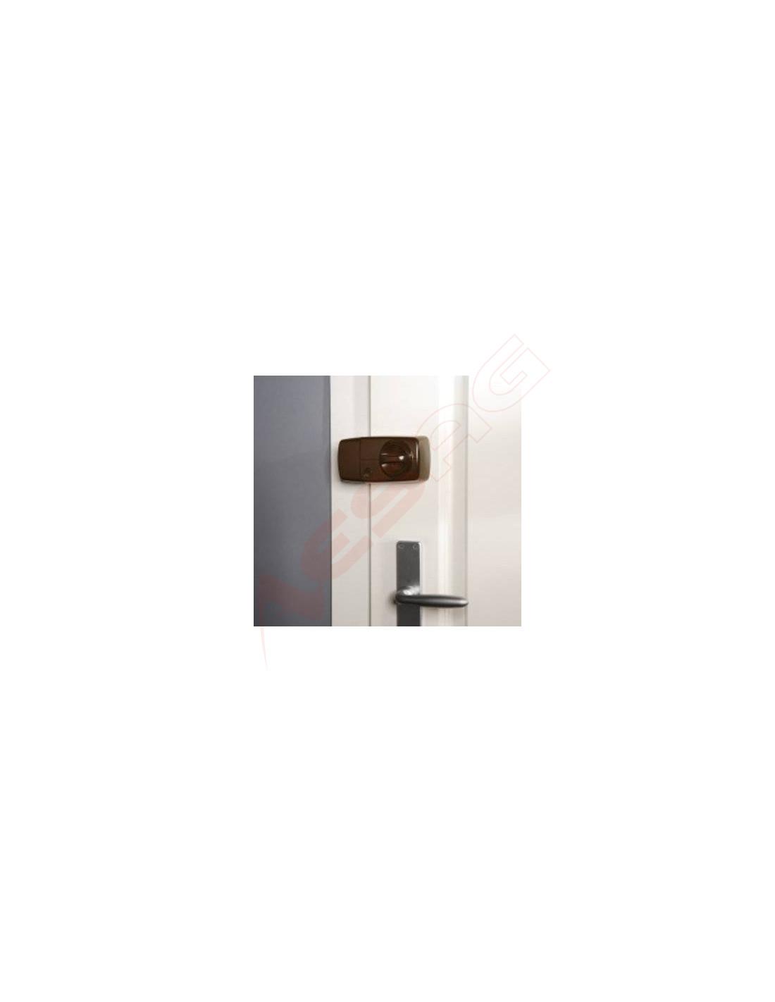 secvest funk t r zusatzschloss mit drehknauf braun fuft50010b. Black Bedroom Furniture Sets. Home Design Ideas