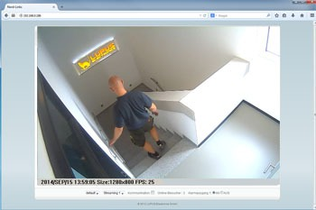 LUPUSNET HD - IP Kamera Livebild